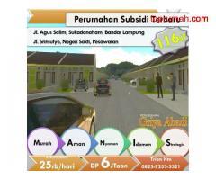 Dijual Rumah - Program sejuta rumah di Bandar Lampung