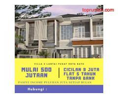 Dijual Rumah Konsep Villa View Pegunungan Di Kota Batu Malang