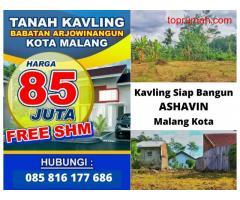 Tanah Kavling Ashavin Arjowinangun Kota Malang