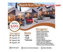 Promo Rumah Villa Murah Skypark Resort 400 Jtan Dekat Wisata Kota Batu