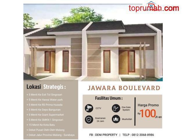 Promo Rumah Subsidi 100 Jtan Jawara Boulevard Kawasan KEK Singosari