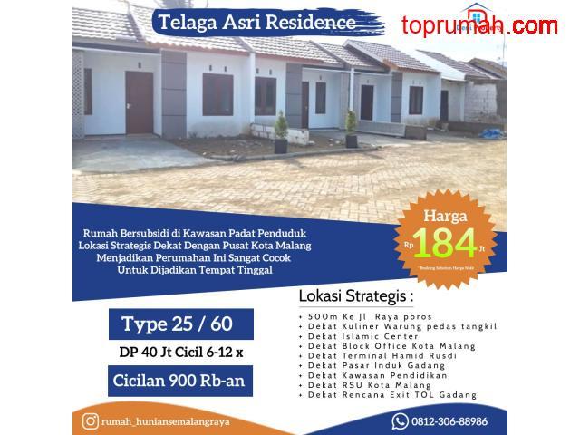 Rumah Subsidi Murah Telaga Asri Residence 100 Jtan Pinggir Kota Malang