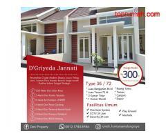 Rumah Modern Belakang Akbid Wijaya Kusuma D Griyeda Jannati