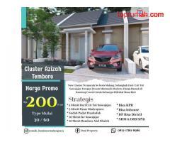 Investasi Rumah Murah Dekat Exit tol Cluster Azizah Temboro Kota Malang