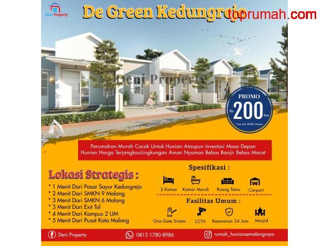 Promo Rumah Murah Poros Jalan Di De Green Kedungrejo Dekat Exit Tol