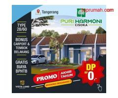 Rumah Subsidi & Komersial di Puri Harmoni Cisoka Tangerang MD794