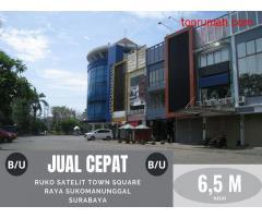 Ruko Satelit Town Square, Sukomanunggal, Surabaya ~ Strategis, Hadap Jalan.
