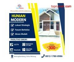 Promo Rumah Villa Modern dekat Kampus Poltekom di Sekarsari Malang