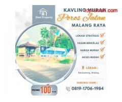 Promo Tanah Kavling Murah Poros Jalan Bululawang di Azzurri Malang