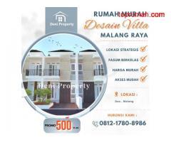 Jual Rumah 2 Lantai Harga Murah di Dau Malang Zhafira