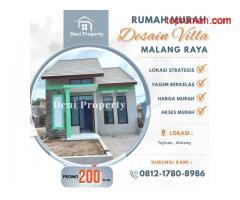 Promo Rumah Dijual Murah di Griya Garuda dekat Poltekom Malang