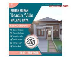 Rumah Modern dekat Exit Tol di Havaland Karangploso Malang