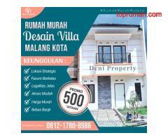 Rumah Mewah 2 Lantai dekat Kampus UB di Saxofone Malang Kota