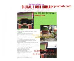 Dijual 1 unit rumah di griya Az-Zahra lestari blok D. Kel. Pematang Gubernur. Kec. Muara Bangkahulu