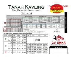 Tanah kavling terbaru desa Beton tahap 4