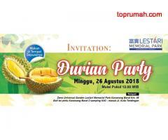 DURIANNN PARTY..RUMAH Masa Depan Taman Kenangan LESTARI Memorial Park