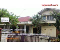 Tanah & rumah dijual Strategis & Nyaman di Jalan DI Panjaitan Medan