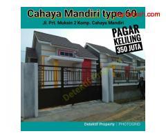 Rumah type 60 + Pagar keliling & Carport