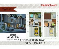 Dijual Rumah Algira River View Rumah Modern 2Lt Dekat Stasiun K.A Tanpa BI Checking