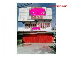 Dijual Ruko 2 unit Gandeng Tingkat 3 Tepi Jalan Utama Khw.Hasyim.Foto Ruko Sesuai Yang Asli.