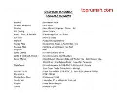 RAJABASA HARMONY Bandar Lampung Uang Muka Rp 8 Jtan Gratis Semua Biaya