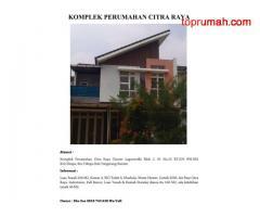 Dijual Rumah Cluster Tangerang Banten