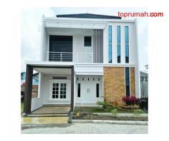 Discount 255 jt,  rumah 2 lantai di Sukajadi-Pekanbaru